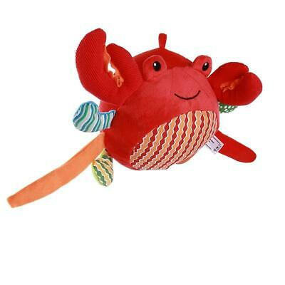 Baby Stroller Toys Hand Toys Children Plush Animal Crab Doll Rattle Toys FI