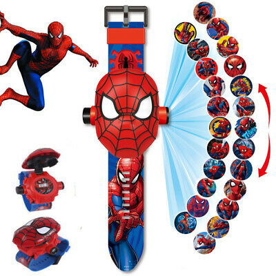 Spider-Man Watches Marvel Flip Electronic  Projection 24 Design Kids Gifts Toys