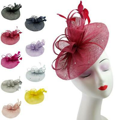 Ladies Large Hat Fascinator Aliceband or Clip Wedding Races Ascot Hatinator
