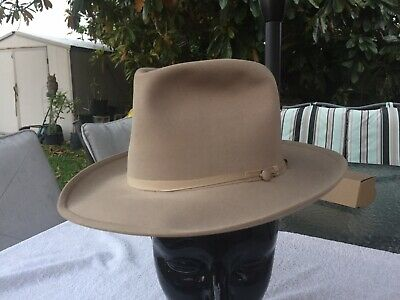 bcbef1069140c Rare Vintage New 1940 7X Beaver OPEN ROAD Stetson SilverBelly Mode Edge  Size 7