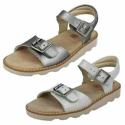 Girls Clarks 'Crown Bloom K' Leather Summer Sandals - F & G Fittings