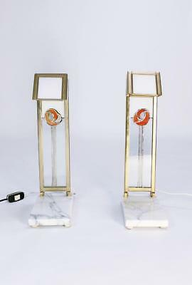 Pair of Custom Design Table Lamps in Manner of Charles Rennie Mackintosh