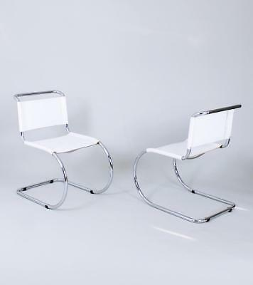 Bauhaus Classic MR 10 Chairs by Ludwig Mies van der Rohe Germany 1980's