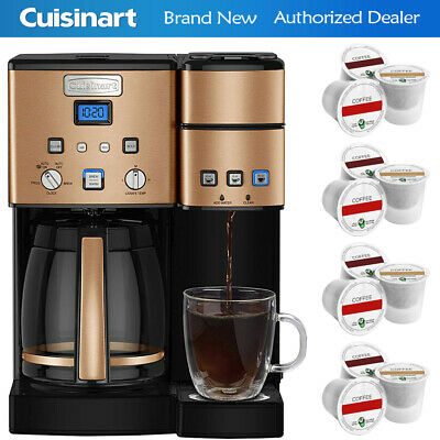 Cuisinart SS-15CP 12-Cup Coffeemaker and Single Serve Brewer 3 Year Warranty +12