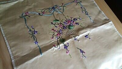 Exquisite Vintage Gold  Silk embroidery piece.