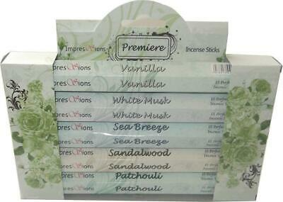 Impressions Incense Sticks Pack of 5 Hexagon Incense Packets Gift Pack PREMIER