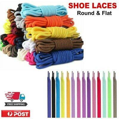 Shoe laces Flat And Round Colorful Colored Bootlace Sneaker and Runners