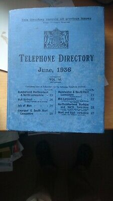 Red telephone box directory