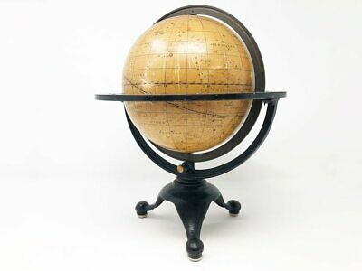 Antique Art Nouveau Celestial Globe - Rand McNally - Circa 1924 - Tripod Base