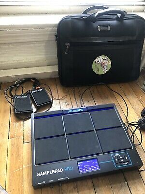 Alesis Samplepad Pro w/ 2x Nektar NP-1 Foot Switches + Soft Carry Case