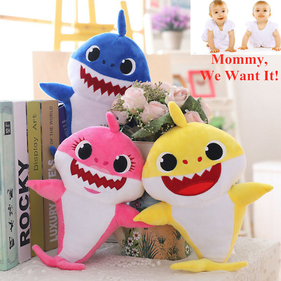 Novelty Baby Shark Plush Singing Plush Toys Music Doll English Song Funny Gadget