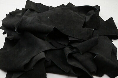 Suede leather scraps - Assorted cowhide pieces | 3-4 Hands