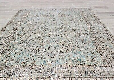 Pre-19007x10 Oriental Area Turkish Hand Knotted Oushak Rug Hand Made Antique