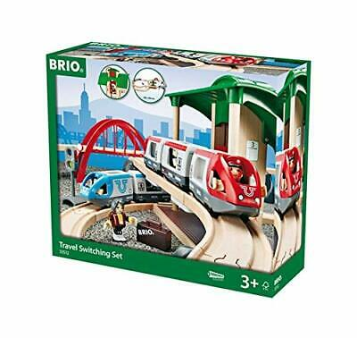 BRIO World Travel Switching Set Wooden Train Track Playset Interactive Kids Toy