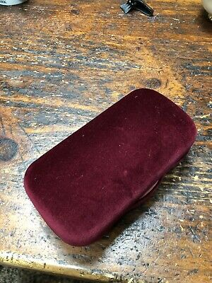 Authentic NEW GUCCI Burgundy & Rose Velvet Sunglasses Eyeglasses Case w/ Cloth!