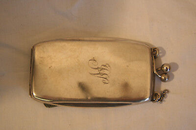 Unusual art deco ladies solid silver cigarette case B'ham 1920
