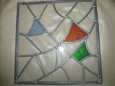 Leaded / Stained Glass Window Pane 32cm square