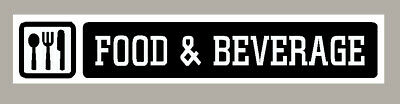 2 X Food & Beverage Stickers Signs