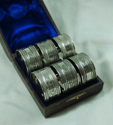 Antique Cased Silver Plated Napkin Rings A701917