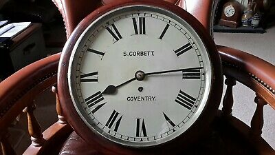 12in early fusee wall clock. .marked S . CORBETT. .COVENTRY