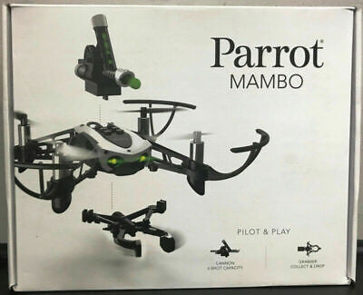 Parrot Mambo Mini Drone RC Quadcopter with Cannon and Grabber BRAND NEW