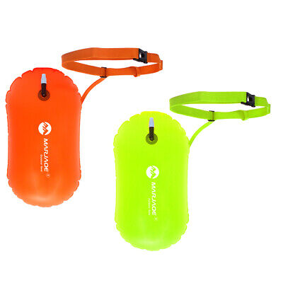 2Pc Inflatable Swim Buoy Tow Float Air Bag Open Water Swim Training Aid Tool