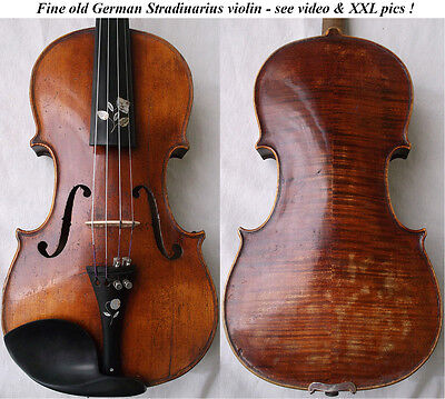 OLD GERMAN STRADIUARIUS VIOLIN video ANTIQUE MASTER VIOLINO バイオリン скрипка 933