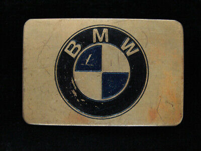 PC07157 VINTAGE 1970s **BMW** AUTO CAR COMPANY SOLID BRASS BELT BUCKLE