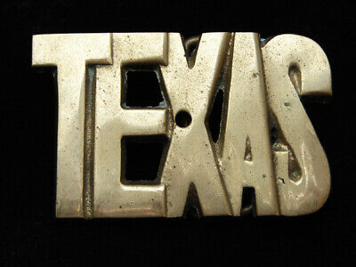 PG01143 VINTAGE 1970s **TEXAS** COMMEMORATIVE SOLID BRASS BARON BELT BUCKLE
