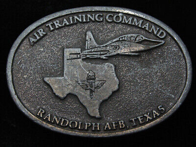 QE01102 VINTAGE 1970s **AIR TRAINING COMMAND** AIR FORCE MILITARY BELT BUCKLE