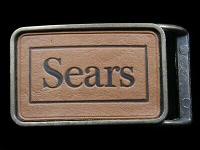 RK07110 *NOS* VINTAGE 1970s **SEARS** ADVERTISEMENT BELT BUCKLE