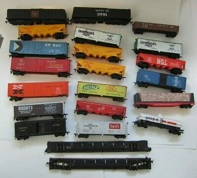 HO Model Train Freight Box Hopper Gondola Tank Flat Car Railroad Train LOT