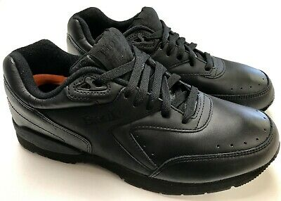 f8865b9304f2 Men s Etonic Black Leather Walking Athletic Shoes Sneakers Wide   Extra Wide