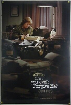 CAN YOU EVER FORGIVE ME? DS ROLLED ORIG 1SH MOVIE POSTER MELISSA McCARTHY (2018)
