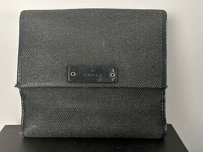 Authentic Gucci Canvas Double Sided Compact Wallet Italy With Original Gucci Box