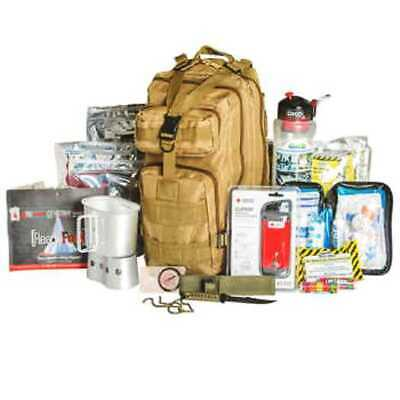 72 Hour Military Style Tactical Backpack Survival Kit-Tan, Heavyweight Canvas