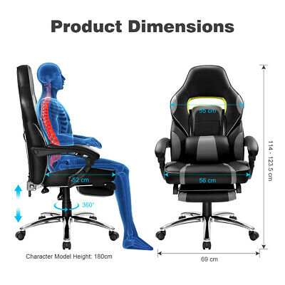 High-Back Luxury Executive Racing Gaming Office Chair Swivel Computer Desk Chair