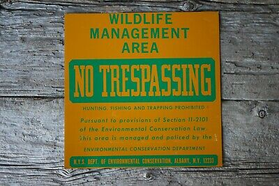 Vintage Nos Virginia Wunder Wildlife Area Sign Fishing Hunting Scioto Sign Comp Signs
