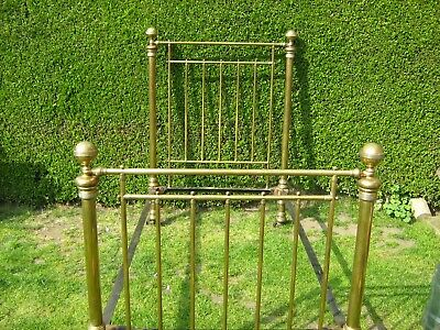 "ANTIQUE VICTORIAN BRASS LARGE SINGLE BED 3' 6"", Reduced Price"