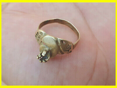 LOW OUTBID !! EXTREMELY Ancient authentic Copper BRONZE RING quality ARTIFACT
