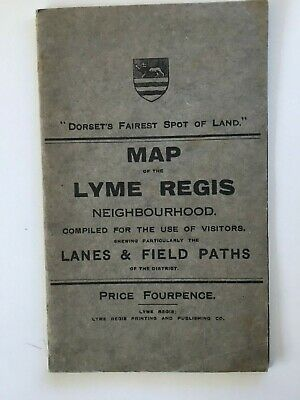Old Map of the Lyme Regis Neighbourhood, Dorset's Fairest Spot of Land, Undated