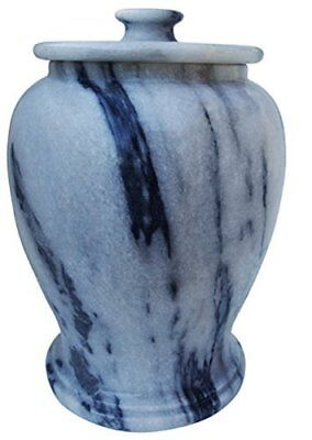 Gray Marble Urn Adult Funeral and Cemetery Cremation Urn for Human Ashes