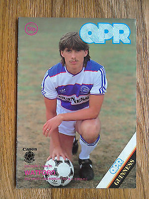 30/03/1985 QPR Vs Watford Football Match Programme