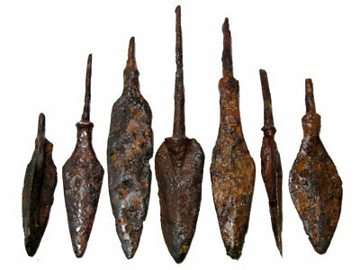LOT OF 7pcs. ANCIENT IRON ARROW HEADS+++BROAD VARIETY+++