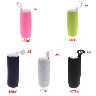 Sport water bottle cover neoprene insulated sleeve bag case pouch PN