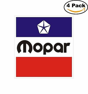 Mopar Racing Decal Diecut Sticker 4 Stickers