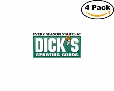 dicks sporting goods logo 4 Stickers 4x4 Inches Sticker Decal