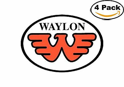 Waylon Jennings Oval Flying Orange W Decal Vinyl Sticker 4 Stickers