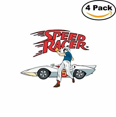 Speed Racer 4 Stickers Sticker 4X4 Inches_5