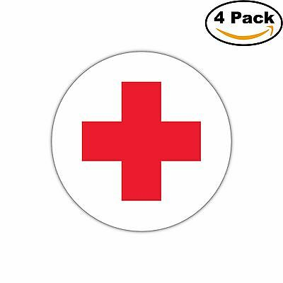 American Red Cross Decal Diecut Sticker 4 Stickers